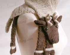 Digital PDF Crochet Pattern for Lion Scarf by BeesKneesKnitting