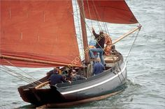 B096 Galway Hooker Morning Star Fishing Cargo Boat Ireland Photo | eBay