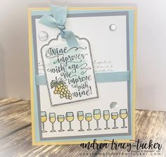 One Stampin' Mother Tucker: Stamp Ink Paper 115 Color Challenge, Half Full, Watercolor