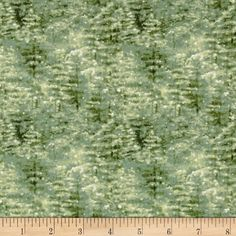 A Winter Song Trees Texture Green from @fabricdotcom  Designed by Jane's Garden for Henry Glass & Co., this cotton print fabric is perfect for quilting, apparel and home decor accents. Colors include cream and shades of green.