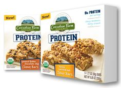 Are you looking for a better, more convenient way to get protein into your family's diet? Cascadian Farm recently launched protein bars in two flavors: Peanut Butter Chocolate Chip and Honey Roasted Nut. These yummy snacks are made with organic pea protein, derived solely from plants, and pack a satisfying punch without sacrificing taste.