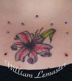 stargazer lily and butterfly tattoo Lily Tattoos Designs And Ideas .
