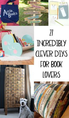 27 Incredibly Clever DIYs All True Book Lovers Will Appreciate