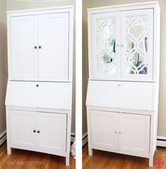 Beautiful creation with O'verlays Khloe and Ikea Hemnes secretary desk and mirror