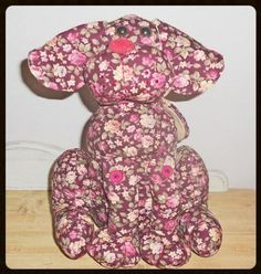 Floral Dog Dog Doorstop - so cute from Hearts and Home Hand Painted Furniture, Paint Furniture, Shabby Chic Home Accessories, Doorstop, Shabby Chic Homes, Soft Furnishings, Wedding Bridesmaids, Personalized Gifts, Vintage Items