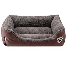 Pet Dog Bed, Dog Soft Hand Washable Rectangular Pet Self Warming Cat Pet Warm Basket Bed with Fleece Lining Fit Most Pets * To view further for this item, visit the image link. (This is an affiliate link and I receive a commission for the sales) #PetCats