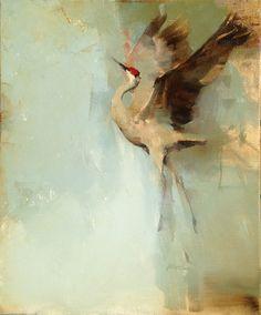 """""""Splendid"""" 20 x 16 oil on linen by Kathryn Mapes Turner.   #splendid #birdsinart #oilpainting #gold"""