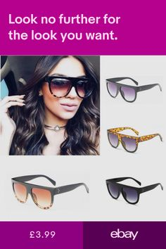 d1064689f2f5 Shadow Shield Flat Top Oversized Women Designer Inspired Celebrity  Sunglasses