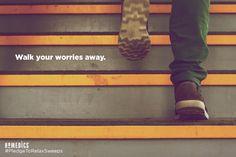Taking a brisk walk can release anxiety. #pledgetorelax