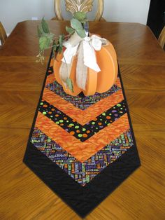 Sale Halloween Table Runner by Quiltedhearts5 on Etsy