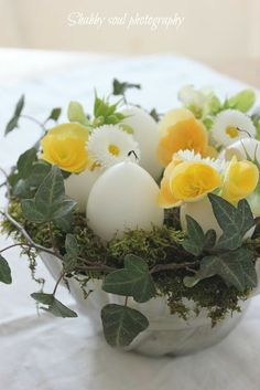 Easter's simple centerpiece - Tutorial