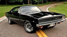 1968 Dodge Charger RT #dodgevintagecars #dodgeclassiccars