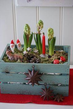 Christmas Figurine Planter