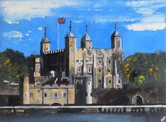Buy The Tower of London, Acrylic painting by Andrew  Reid Wildman on Artfinder…
