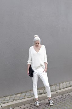 All white fall style