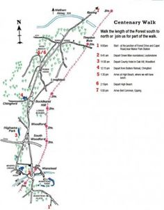 The Epping Forest Centenary Walk is an annual walking route organised by the Friends of Epping Forest - incl. map & full directions - Walks And Walking