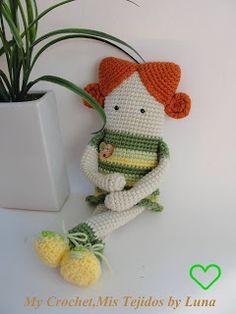 My Crochet , Mis Tejidos by Luna: Muñeca Cuadrada - 2da.