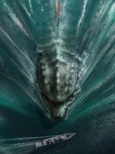 Godzilla - Sea Art Print by Andy Fairhurst Art | Society6