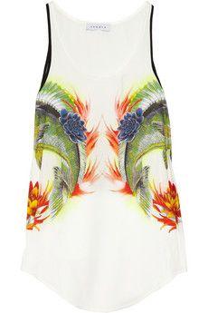 Elegante Printed Silk Top #r29summerstyle