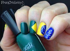 Nail Art Bandeira do Brasil - Brazil Flag Nails