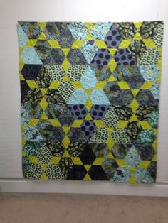 Lotus by Jaybird Quilt.  Fabric: Moon Shine by Tula Pink