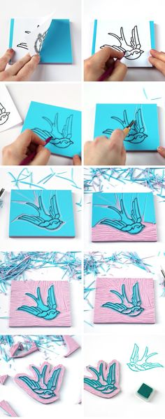 HOW TO CARVE YOUR OWN CUSTOM RUBBER STAMP.