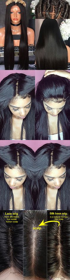 Wig and Extension Supplies: Silk Top Silky Straight Full Lace Wig Brazilian Lace Front Virgin Human Hair Wig -> BUY IT NOW ONLY: $449.65 on eBay!