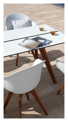 It looks like indoor furniture – and it's got some of the same benefits. The white table top and seat don't need maintenance at all, and the beautiful glow of the eucalyptus wood is easily held too. Ultimately there's a light feeling to the Adelaide outdoor range – aesthetically as well as maintenance wise. #outdoorliving #patio #terasse #danishdesign #interiordesign