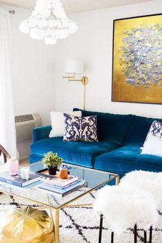 Herringbone Throw 100/% Pur Nouvelle Laine-Bleu Mer /& Beige Salon Chambre Canapé