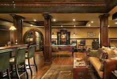 Luxurious bar and game room.  #gamerooms #recreationrooms homechanneltv.com