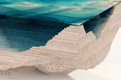 Amazing Abyss Table Layers Glass and Wood to Mimic the Depths of the Ocean Blue