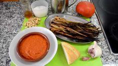 Cebollitas asadas con salsa Romescu. Las Recetas del Hortelano