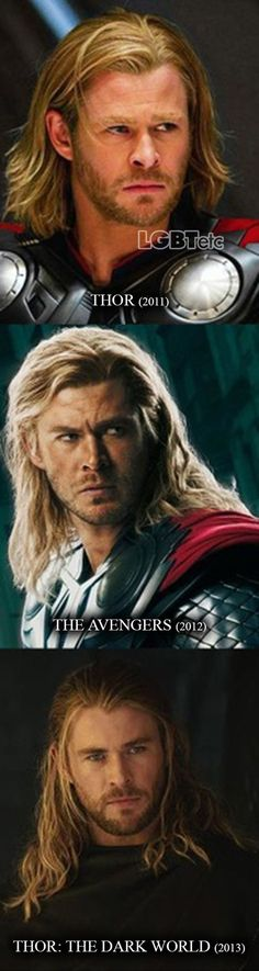 Thor. He gets hotter and hotter throughout the movies.