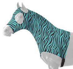 Love these....This is the color that Lillie Belle wears to the show ring.....Matching blanket, tail bag mane tamer and halter...SPOILED PONIES    Sleazy Slinky Turquoise Zebra
