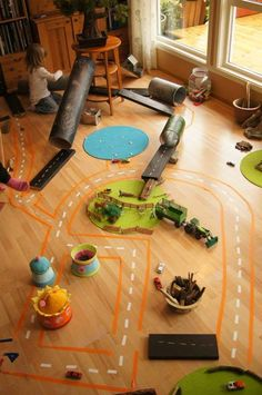 Indoor city - construction site at Fantasifantasten ≈≈