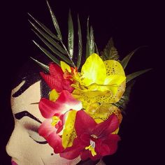 Red and yellow tropical tiki hairpiece is selling for $12 plus shipping...leave your email to purchase:) #deadlydinaaccessories #tropical #tropicalflowers #tikioasis #tiki #hawaiin #luau #hairflowers #hairpiece #hairaccessories #rockabilly #pinup #retro