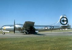 """Boeing B-29 Superfortress """"Bockscar"""" at the National Museum of the U.S. Air Force. This is the Superfort that dropped the second atomic bomb, after Hiroshima, on Nagasaki."""