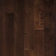 Charleston Maple is a premium-grade solid hardwood that comes pre-finished with a chocolate brown coloration that gives a warm feel to any flooring space.  This dark maple hardwood floor naturally enhances the look and feel of any room scene by perfectly complimenting lighter colored furniture and other accessories .