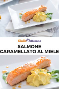 Honey caramelized salmon- Salmone caramellato al miele Honey caramelized salmon is a second course of … - Italian Dishes, Italian Recipes, Masterchef, Shellfish Recipes, Cooking Recipes, Healthy Recipes, Finger Foods, Carne, Seafood