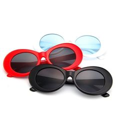 ca06582841 4.99AUD - Clout Goggles Rapper Glasses Sunglasses Fancy Dress White Oval  Shades Grunge  ebay  Fashion