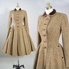 Vintage 50s PRINCESS COAT / 1950s Franklin by GeronimoVintage