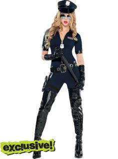 Stop Traffic Sexy Cop Costume for Women - Party City