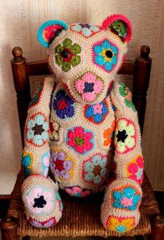 Gorgeous crochet bear