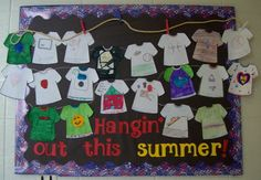 T-Shirt Bulletin Board Ideas - I could do this for a bulletin board at school