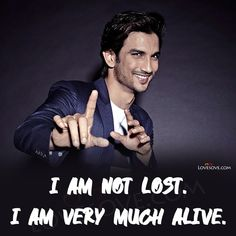 Sushant Singh Rajput (21 Jan 1986 - 14 June 2020) was an Indian Film Actor, Television, Philanthropist, an Entrepreneur and dancer. He started his career with the Television show Kis Desh Mein Hai Mera Dil and rose to fame with Pavitra Rishta. He was from Patna.  I Am Not Lost. I Am Very Much Alive.  I'll Continue Doing Things Irrespective Of The Medium As Long As I'm Excited About It.  When I Am In Front Of The Camera Or On Stage, I Am Not Me. Rajput Quotes, Danish Men, Bollywood Quotes, Sushant Singh, Real Hero, Now And Forever, Bollywood Stars, Reality Quotes, My Idol