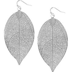 Humble Chic Filigree Leaf Earrings - Lightweight Cutout Oversized Drop Dangle...