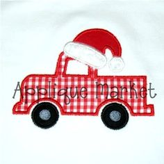 Machine Embroidery Design Applique Truck with Santa by tmmdesigns, $4.00