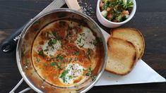 Shakshouka Yummy Food, Tasty, Frisk, Pavlova, Chorizo, Ricotta, Egg, Breakfast, Healthy