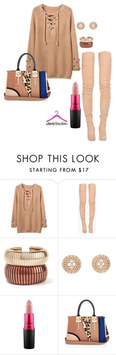 """Dusty Pink"" by brittanynicole-v on Polyvore featuring Balmain, Rosantica, Chanel, MAC Cosmetics and River Island"