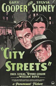 projetor antigo: Ruas da Cidade 1931 Leg FLV 1931, Drama/Policial/Film-Noir, Gary Cooper, Legendado, Paul Lukas, Rouben Mamoulian, Sylvia Sidney
